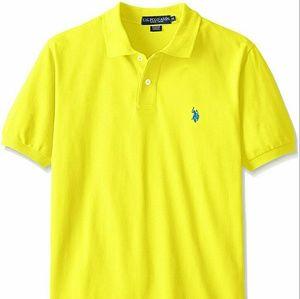 US Polo Assn  Yellow Collared Polo Shirt XL